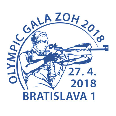 Commemorative Postmark Olympic Gala ZOH 2018