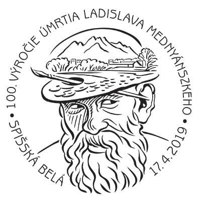 Commemorative Postmark 100th anniversary of the death of László Mednyánszky
