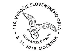 Commemorative Postmark 110th Anniversary of the founding of Slovensky Orol (Slovak Eagle)