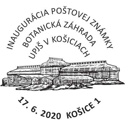 Inauguration of the postage stamp Nature protection: Botanical Garden UPJS in Kosice - Magnolia grandiflora