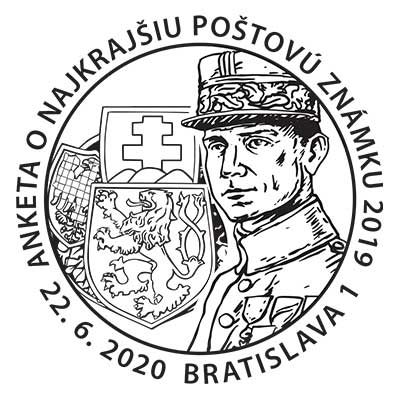 Commemorative Postmark Public poll for the most Beautiful Slovak Stamp of 2019
