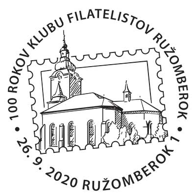 100 years of the Club of Philatelists Ružomberok