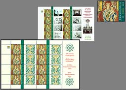 The offer of personalized printing sheets with the Paramentos - liturgical textiles stamp