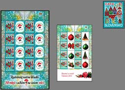 The offer of personalized printing sheets with the Christmas Post 2013 stamp