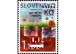 Findings on the postage stamp Pofis no. 584 - Bone Marrow Transplantation Unit