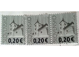 SLOVENSKO or SLOVLNSKO? - Curiosity on the stamp Church in Svatuse