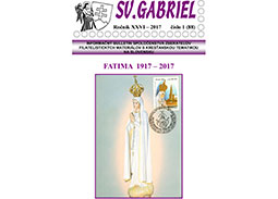 New issue of the bulletin SV. GABRIEL 2017/1 (88)