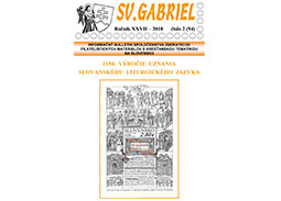New issue of the bulletin SV. GABRIEL 2018/2 (94)