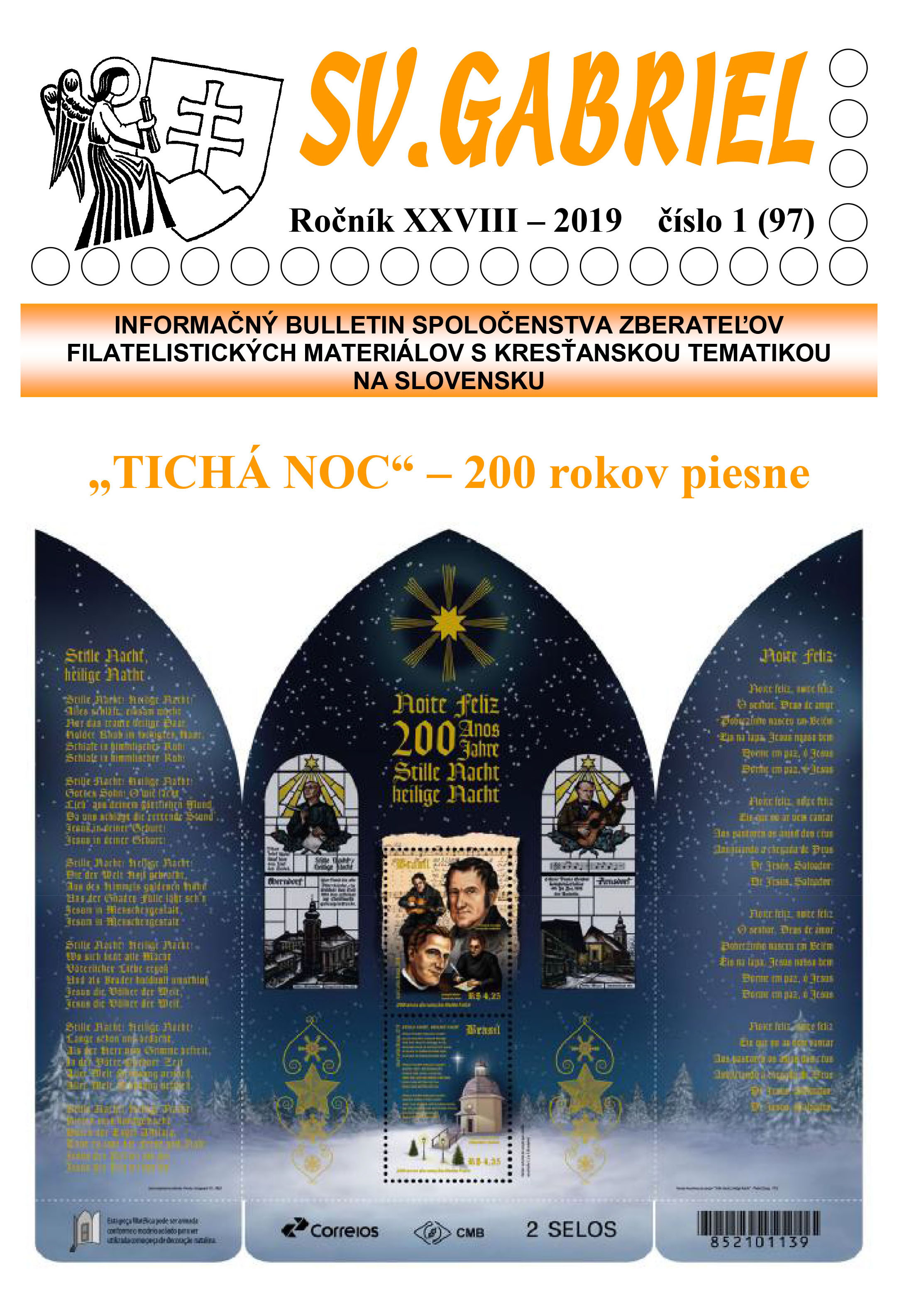 New issue of the bulletin SV. GABRIEL 2019/1 (97)