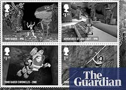 From Worms to Tomb Raider: classic UK video games celebrated in new stamps