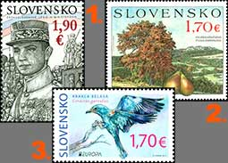 Results of the public poll for the most beautiful Slovak stamp of 2019