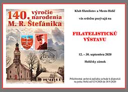 Opening of the philatelic exhibition for the 140th birth anniversary of Milan Rastislav Štefánik in Holic (Slovakia)