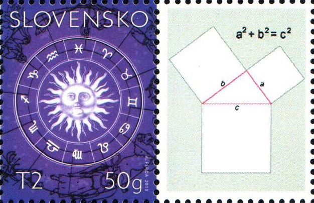 New issues, inaugurations, the most beautiful stamps The Issue of Personalised Adjusted Printing Sheets (PersUTL): Notable personalities of the world of science (Pythagoras, Euclid, Thales and Diophantus)
