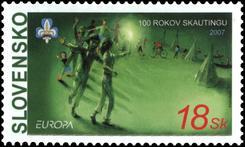 Postage Stamp EUROPA 2007: 100 years of scouting
