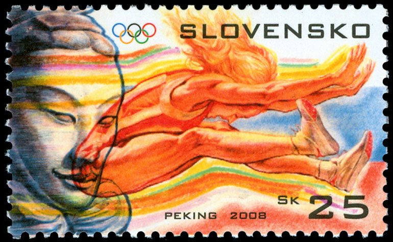 Postage Stamp Olympic Games Beijing 2008 - Long jump