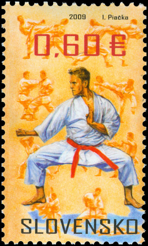 Postage Stamp Sports martial arts