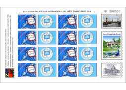 Issue of personalised adjusted printing sheet (UTL): INITERNATIONAL PHILATELIC EXHIBITION PLANETE TIMBRES PARIS 2014