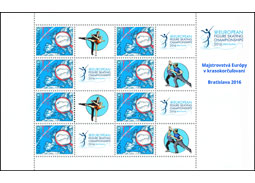 Issue of personalised adjusted printing sheet (UTL): European Figure Skating Championships 2016 in Bratislava
