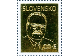 President on a postage stamp: Gasparovic had thin mustache