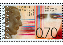 Day of postage stamp: Louis Braille (1809 - 1852)