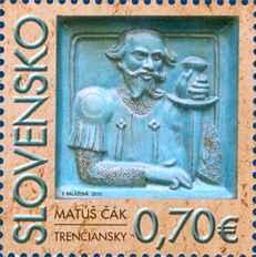 Poštová známka Osobnosti: Matúš Èák Trenèiansky (1260 – 1321)