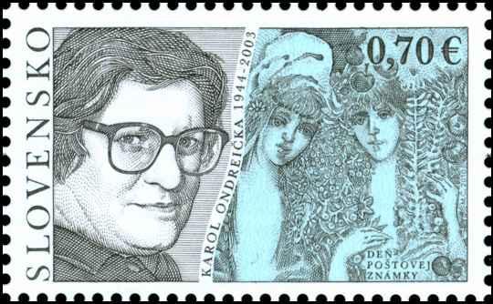Po�tov� zn�mka De� po�tovej zn�mky: Karol Ondrei�ka (1944 - 2003)
