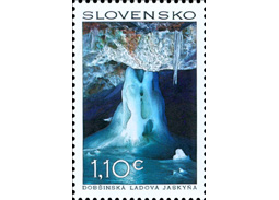 Report of the inauguration of the postage stamp Beauties of our Homeland: The Dobsinska Ice Cave