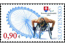 Paralympians christened postage stamp. By English tea