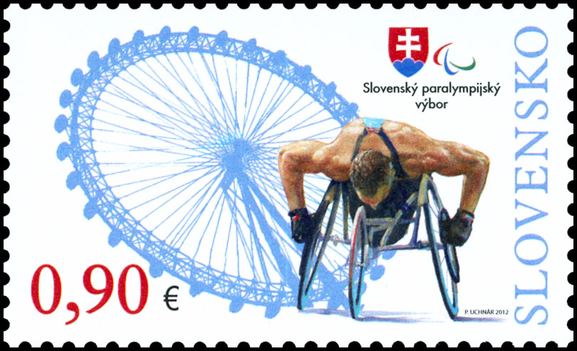 Postage Stamp Paralympic Games London 2012 - Athlete on a wheelchair