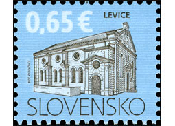 Slovak Post issued a new definitive postage stamp of the emission series Cultural heritage of Slovakia: Synagogue in Levice