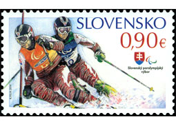 Slovak Post issued two postage stamps dedicated to the Olympic Games and Paralympic Games in Sochi