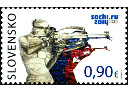 Solemn promise by Slovak Olympians and introduction of Slovak postage stamp Sochi 2014