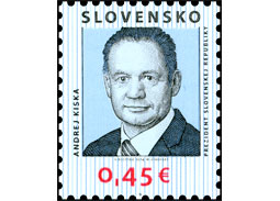 Will be issued a postage stamp with a portrait of the new Slovak president