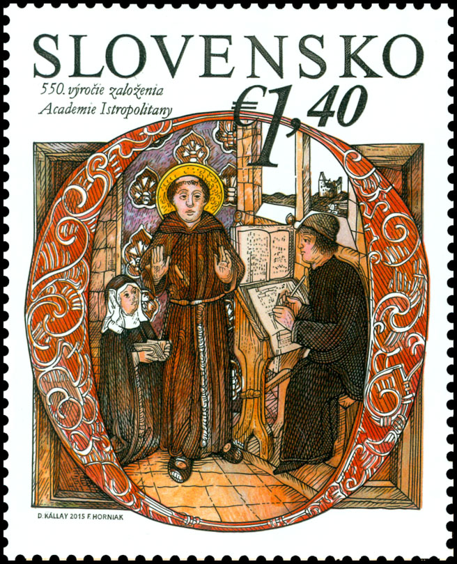 Postage Stamp 550th anniversary of the founding of the Academia Istropolitana