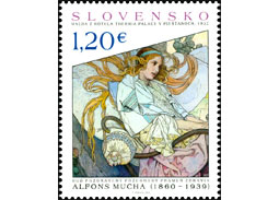 Postage Stamp Art: Alfons Mucha - Hail blessed source of health