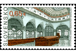 Day of postage stamp: Post Office Building Bratislava 1