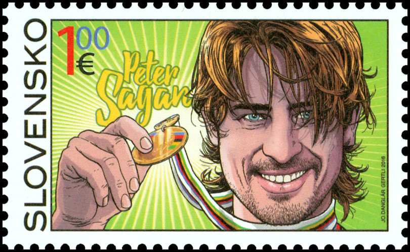 Stamp Inaugurations Ceremonial inauguration of the postage stamp 2015 UCI Road World Championships - Peter Sagan