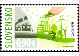 Postage Stamp EUROPA 2016: Ecology in Europe - Think Green!