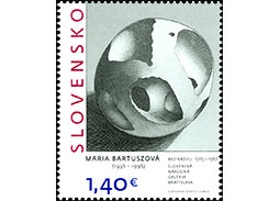 Slovak Post, Inc., issues a new series of postage stamps of the Art issue series with innovative design
