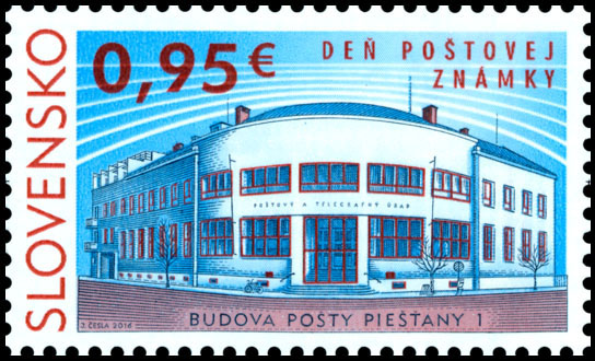 Postage stamp Day of postage stamp: Post Office Building Piešťany 1