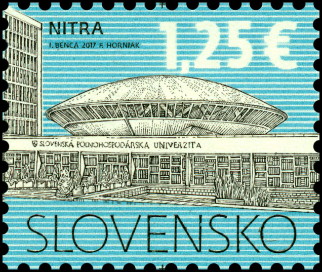 Poštová známka Kultúrne dedièstvo Slovenska: SPU v Nitre
