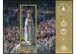 Photoreport from inauguration of the postage stamp 100th anniversary of the apparitions at Fatima