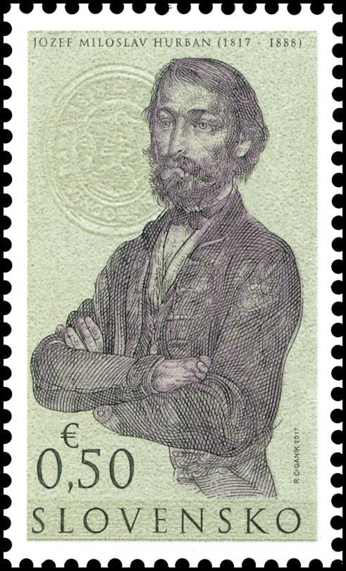 Poštová známka Osobnosti: Jozef Miloslav Hurban (1817 - 1888) - 200. výročie narodenia