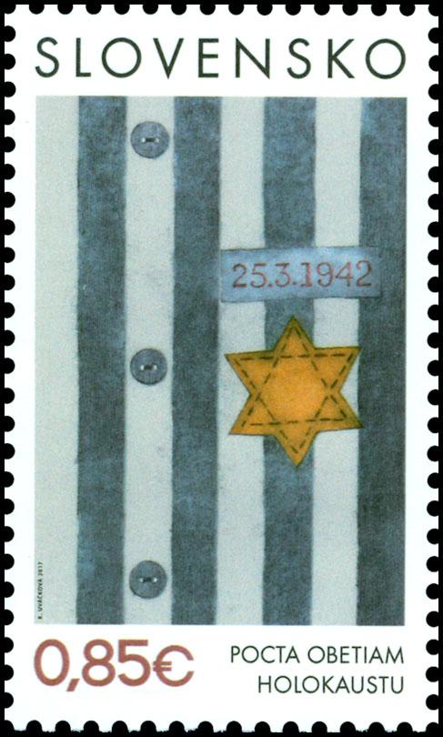 Po�tov� zn�mka Pocta obetiam holokaustu