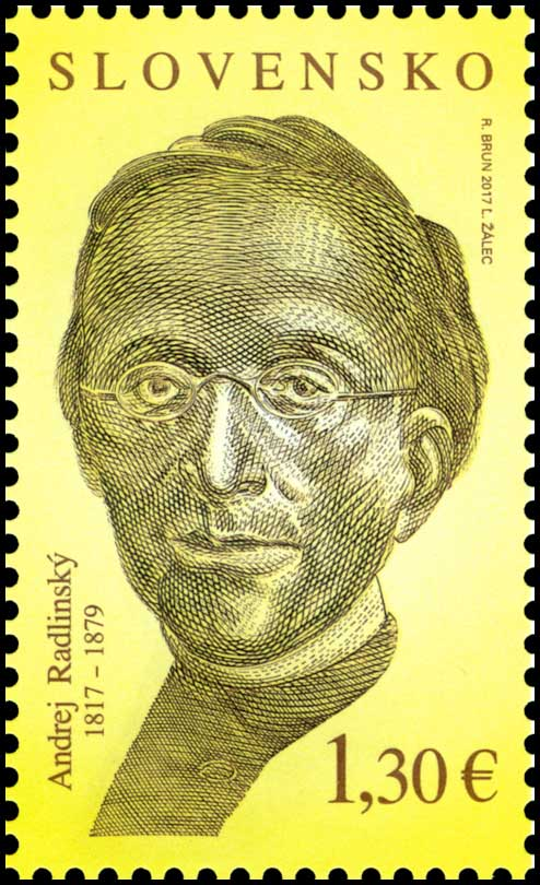Postage Stamp Personalities: Andrej Radlinský (1817 – 1879) - 200th anniversary of the birth