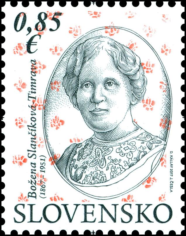 Poštová známka Osobnosti: Božena Slančíková-Timrava (1867 – 1951)a