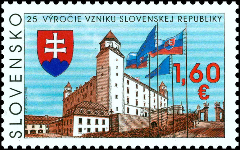 Other events and undertakings Autographing of the author of the 25th anniversary of the birth of the Slovak Republic postage stamp Martin Činovský