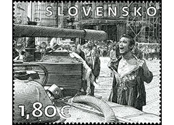 Postage Stamp Art: Ladislav Bielik (1939 - 1984) – A man with a bare chest