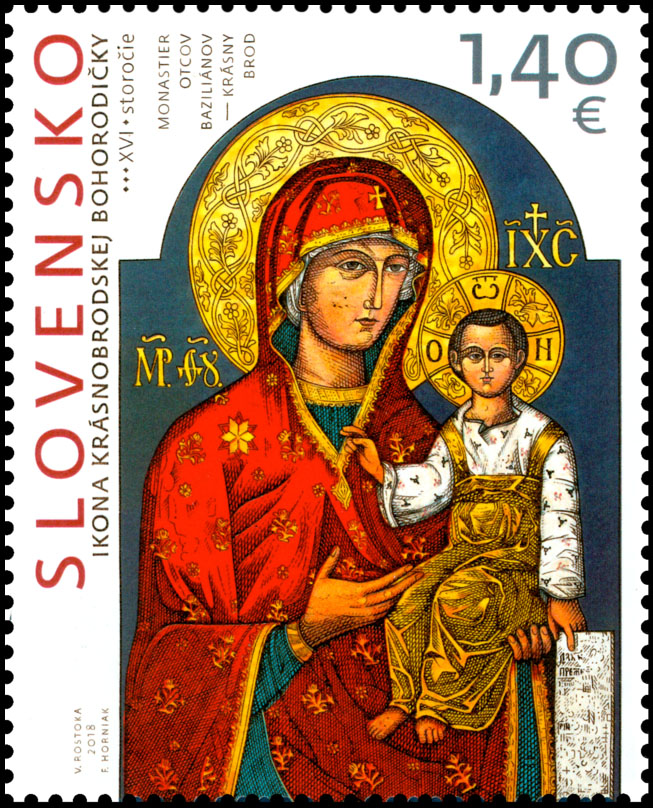 Postage Stamp Art: Icon of the Mother of God from Krasny Brod