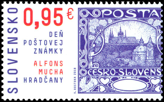 Postage Stamp Day of postage stamp: Alfons Mucha � Hrad�any